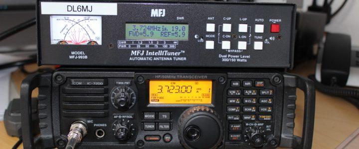 Anschluss des Antennentuners MFJ-993B an einen IC7200