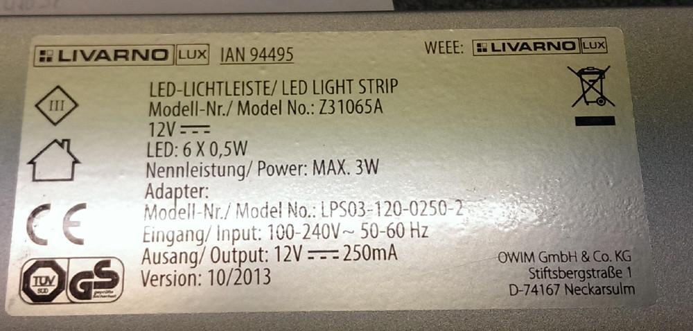 Modifikation einer LED-Unterbauleuchte – JUENE-Tronic